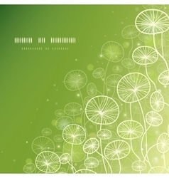 Magical doodle plants square template background vector