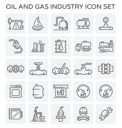 oil gas icon vector image vector image