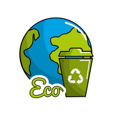 planet recycling icon stock vector image vector image