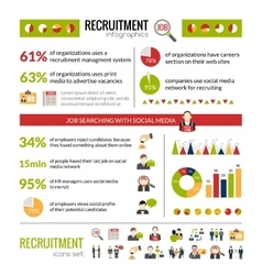 Recruitment Infographics Set vector image vector image