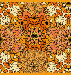 Seamless orange artistic exotic beautiful pattern vector