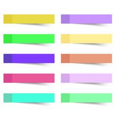 sticky notes 10 pcs vector image