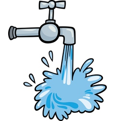 Water tap clip art cartoon vector