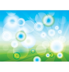 Abstract clean green background vector