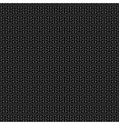 Black seamless pattern with anchors vector image