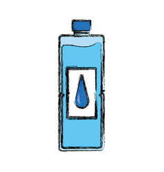 Isolated water bottle vector