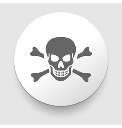 Skull and crossbones - a mark of the danger vector
