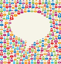 Social media user speech bubble vector image