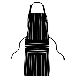 Black striped apron vector
