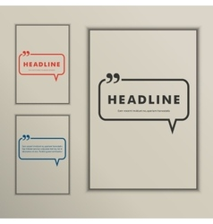 Set banners with speech bubbles on a simple cover vector