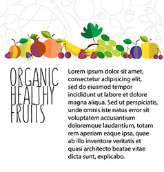 Fruit hand drawn template in flat design vector