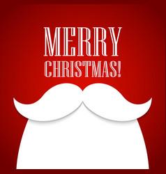 Christmas card with a beard and mustache santa vector