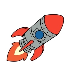 Cartoon spaceship vector
