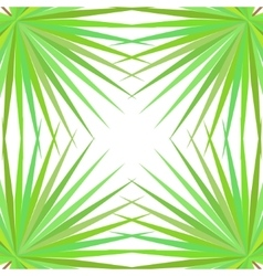 Symmetrical pattern with palm leaves on white vector