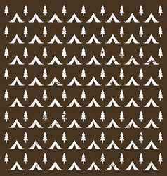 Seamless pattern camping in the woods with the vector