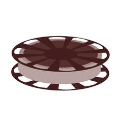 film reel  over white vector image