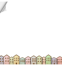 Colorful homes on white paper vector