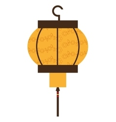 Japanese lamp isolated icon design vector