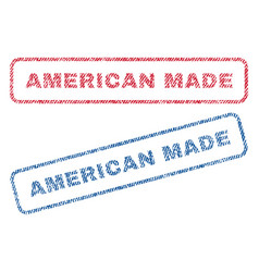 American made textile stamps vector