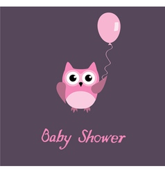 Baby shower owl vector