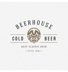 Beer hop logo or badge design element vector