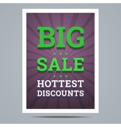 Big sale poster with stars shape and background vector image vector image