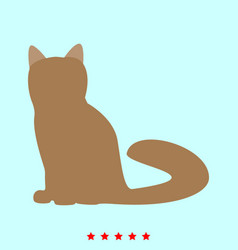 cat it is icon vector image vector image