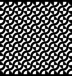 Curve Line Circle Seamless Pattern vector image vector image