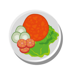 Delicious food restaurant vector