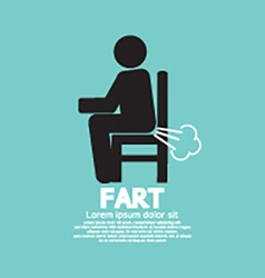 Farting Man On A Chair Black Symbol vector image vector image