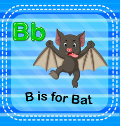 flashcard letter b is for bat vector image