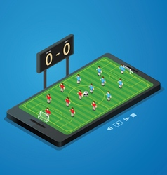 football soccer live online vector image vector image