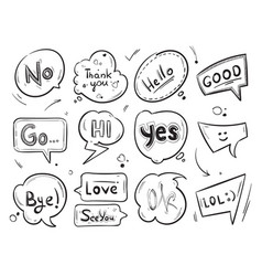 hand drawn comic speech bubbles with popular vector image