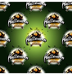 Happy Halloween seamless pattern with moon vector image vector image