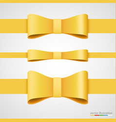 holiday golden ribbon and bow vector image vector image