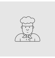 Icon chef in white hat made in the style of vector