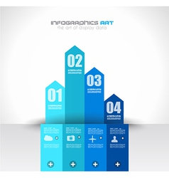 Infographics background to display your data vector image vector image