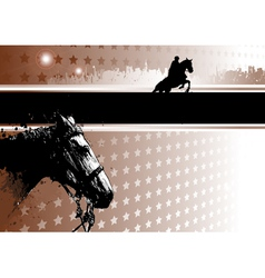 Jumping show poster vector