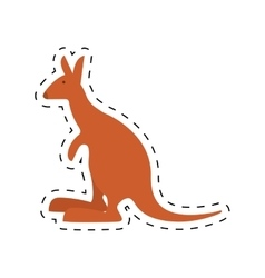 Kangaroo australia pet animal dot line vector
