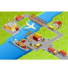 Logistic delivery template vector