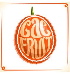Logo for gac fruit vector