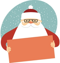 Santa Claus holding empty card vector image vector image
