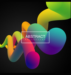 vibrant gradient shapes vector image