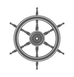Vintage marine steering wheel vector