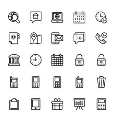 Web and mobile ui line icons 17 vector