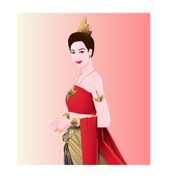 Woman thai style vector
