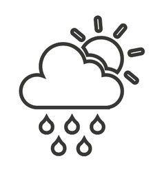 Cloud weather symbol isolated icon vector