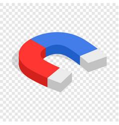 Magnet isometric icon vector
