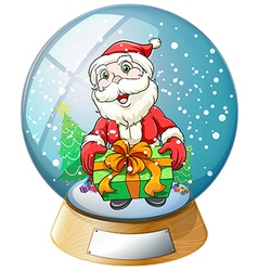 Santa claus crystal ball vector