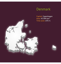 3d map of denmark vector